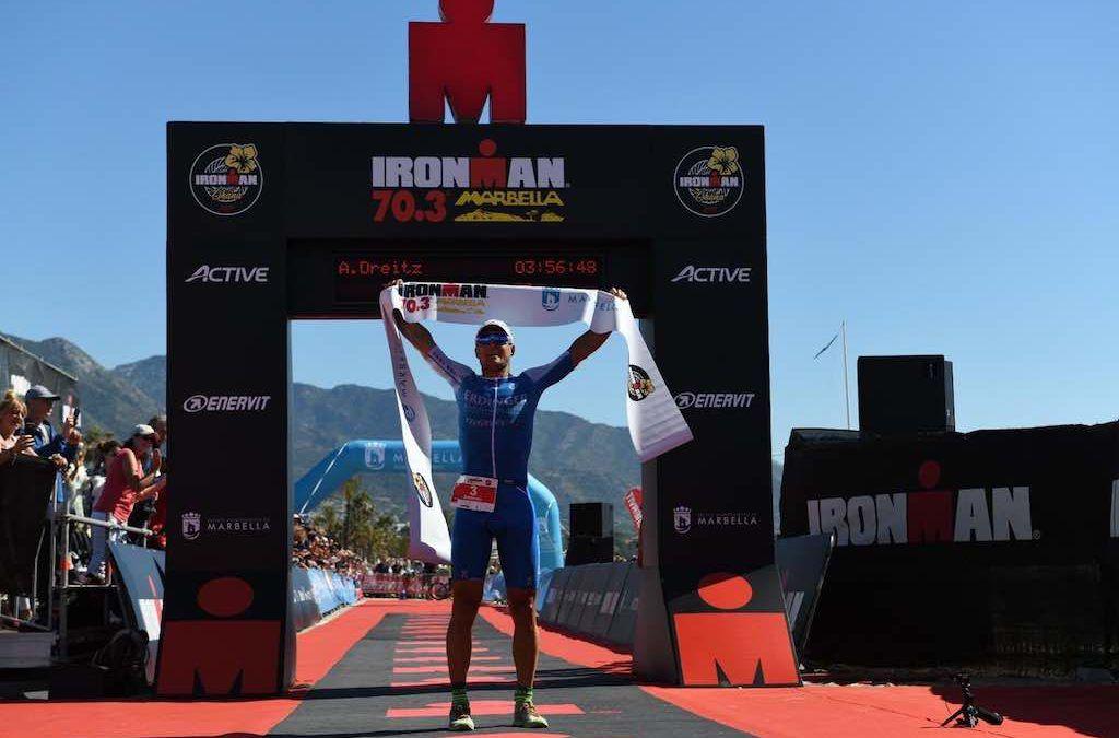 Kenneth Vandendriessche net naast podium in 70.3 Marbella, Dreitz wint