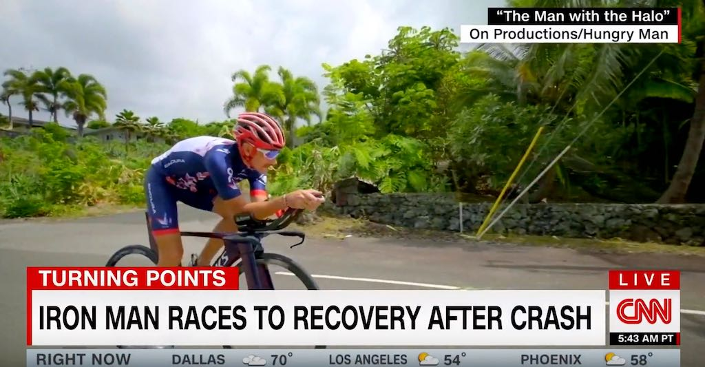"Tim Don in de kijker op CNN's Turning Points: ""Ironman races to recovery after crash"""