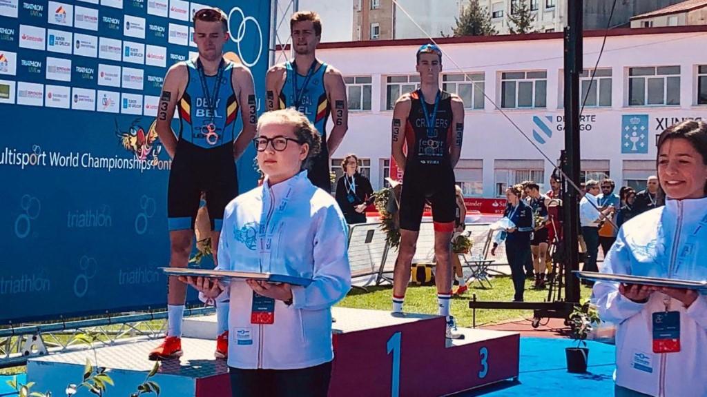 Belgen bevolken podium WK Duatlon in Pontevedra