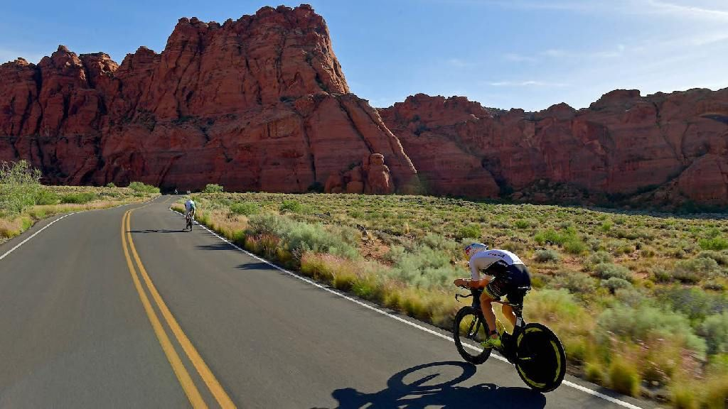Wereldkampioenschap 70.3 Ironman in 2021 in St. George in Utah