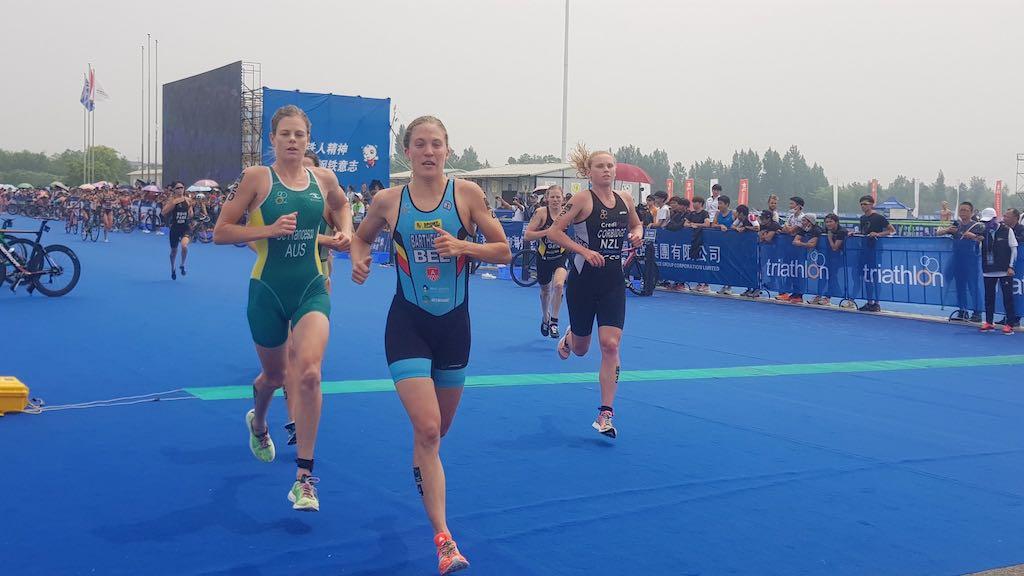 Allereerste wereldbeker podium voor Valerie Barthelemy in Chengdu