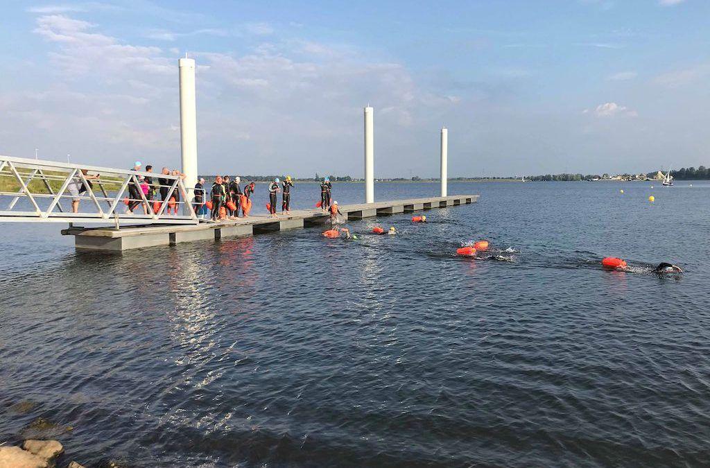 Opening nieuwe openwater locatie succes, gemeente en triatlonclub werken samen