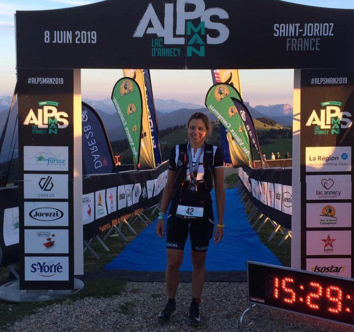 Natalie Franken tweede dame in loodzware Alpsman triatlon in Frankrijk