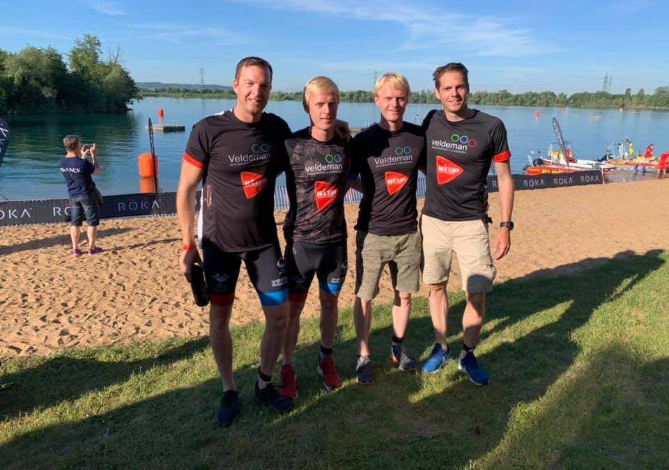 Opvallend: de vier broers Veldeman samen in dezelfde 70.3 Ironman