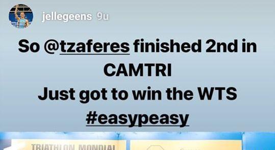 Jelle Geens kondigde WTS overwinning aan in weddenschap met Zaferes