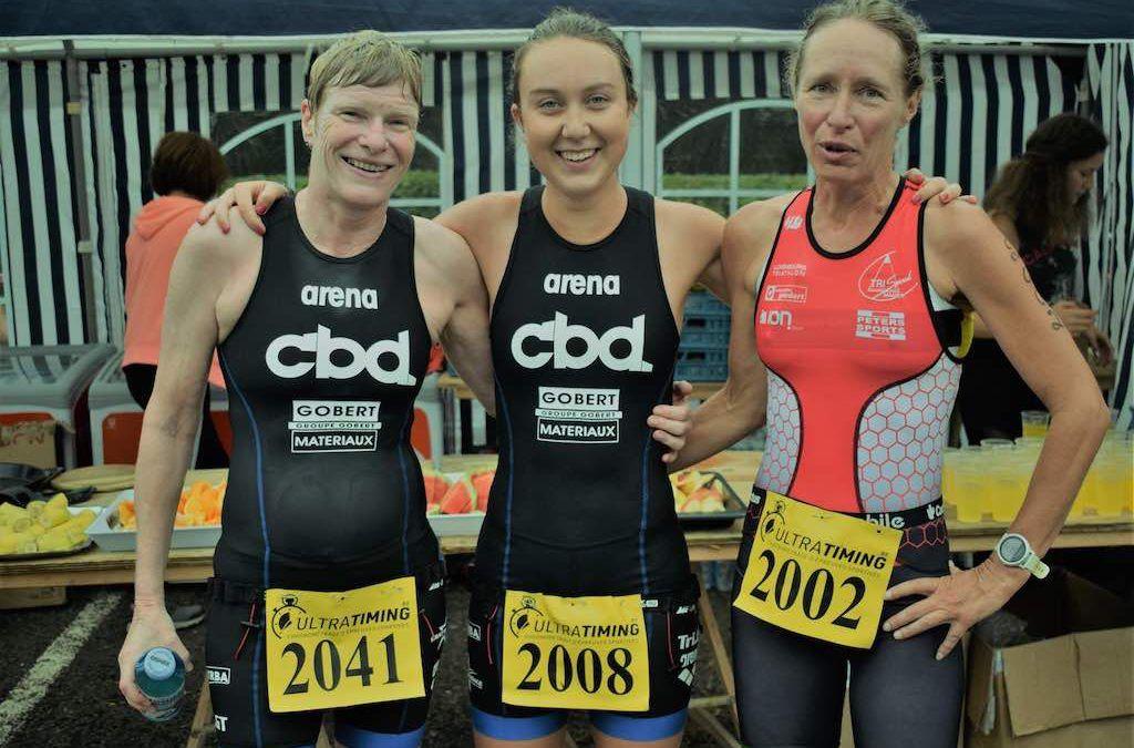 Axel Baumans en Emma Claisse winnen sprinttriatlon Butgenbach
