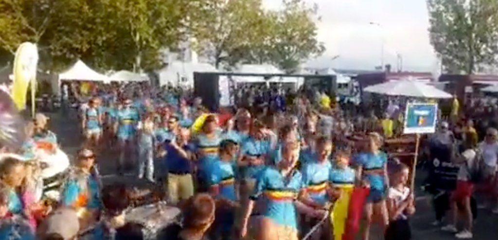Massale Belgische delegatie opent WK weekend in Lausanne bij Nations Parade
