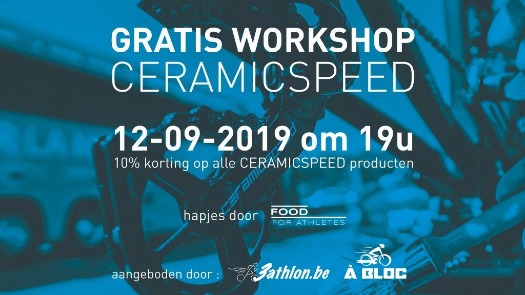 Ceramic Speed workshop bij A Bloc in Beernem op 12 september