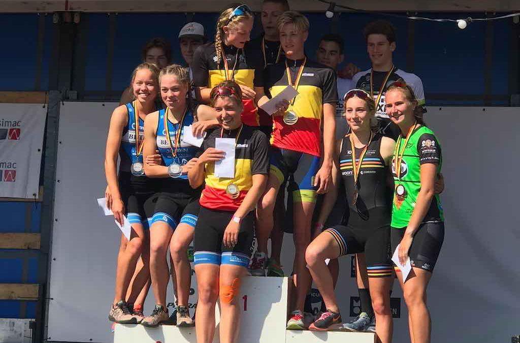 Volop strijd in Belgische kampioenschappen triatlon bij de jeugd in Mechelen