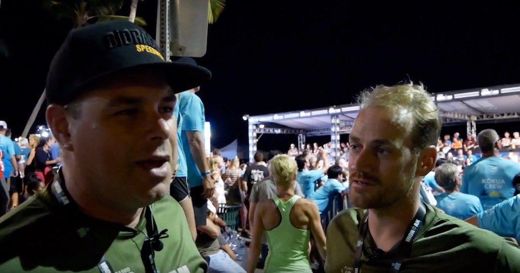 Ironman Hawaii 2019 – race day: Peter en Hans op de Finish Line Party