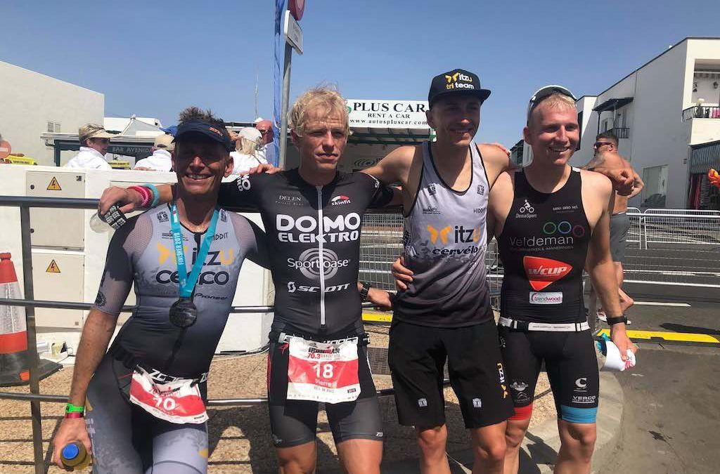 Drie Belgische triatleten op podium 70.3 Ironman van Lanzarote