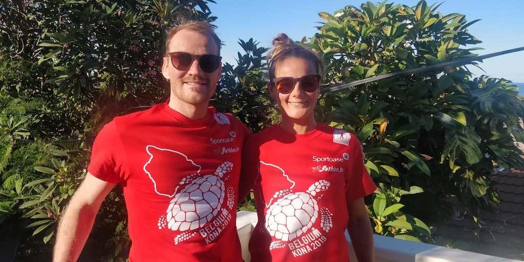 Exclusieve Kona shirts voor de 55 Belgische triatleten in Hawaii