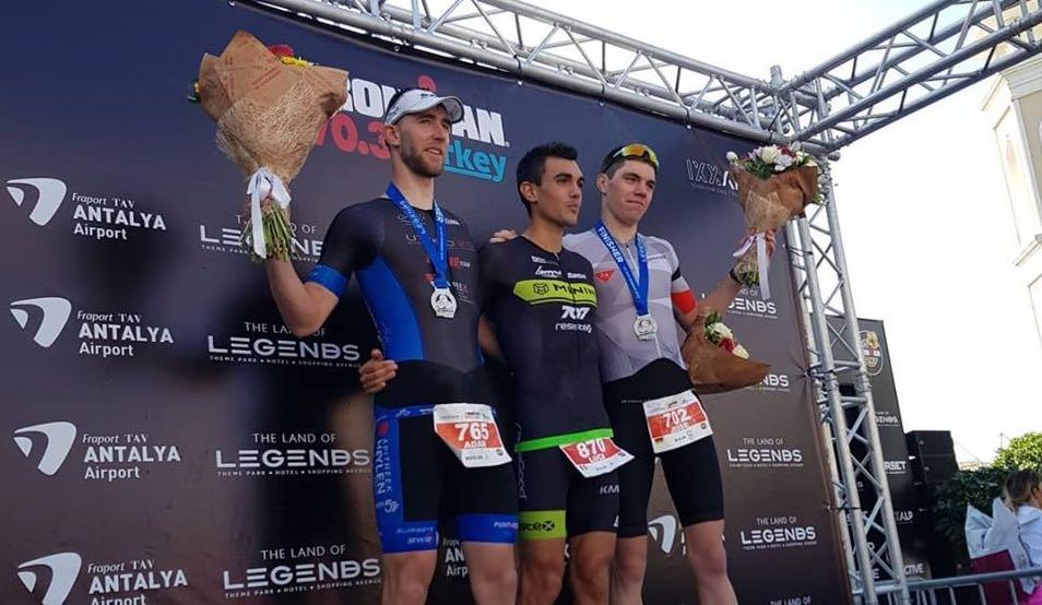 Adam Lambrechts tweede in 70.3 Ironman Turkije, ook Sven Vandenbroucke top-5