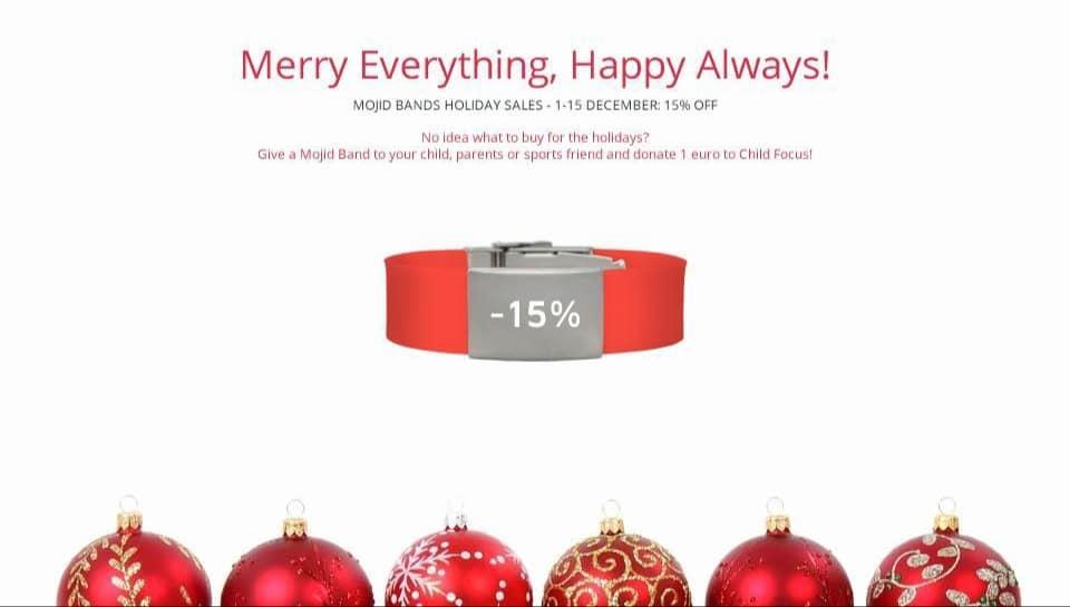 Mojid: een veilig cadeau met Kerstmis voor je favoriete sporter, nu met 15% korting