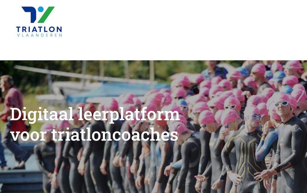 Digitaal leerplatform van Triatlon Vlaanderen met tientallen trainingen