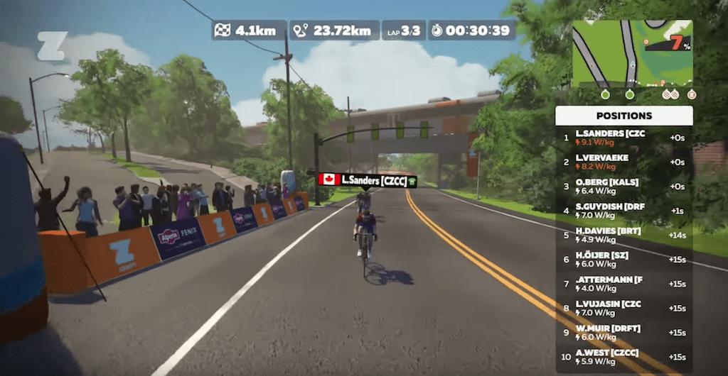 Triatleet Lionel Sanders klopt Van der Poel en andere pro's in virtuele Ronde