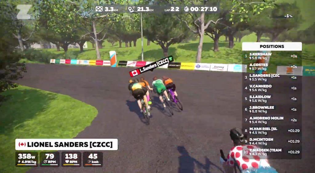 Van Riel 9de in virtuele Londense triatlon, geen Belgen in kopgroep