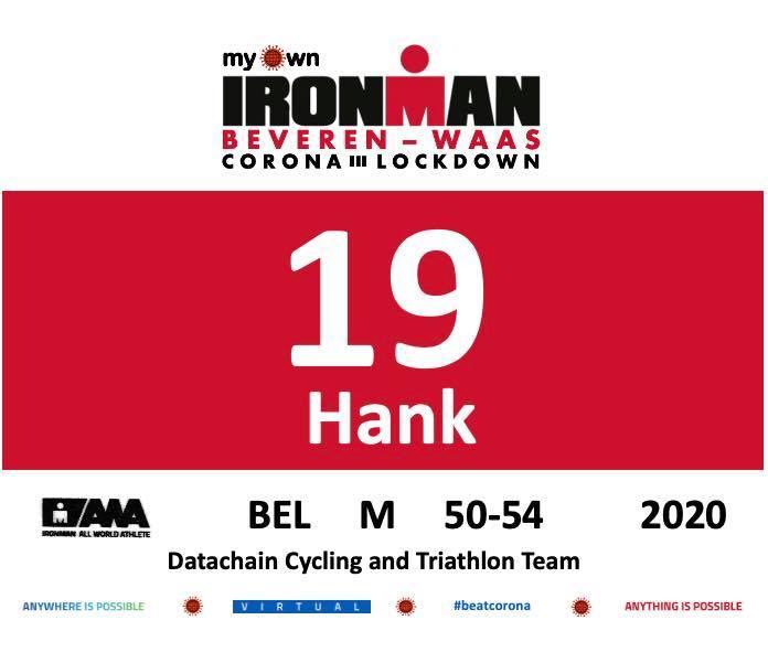 Geen Ironman Lanzarote? Dan doet Hank Mees gewoon de Ironman Beveren-Waas