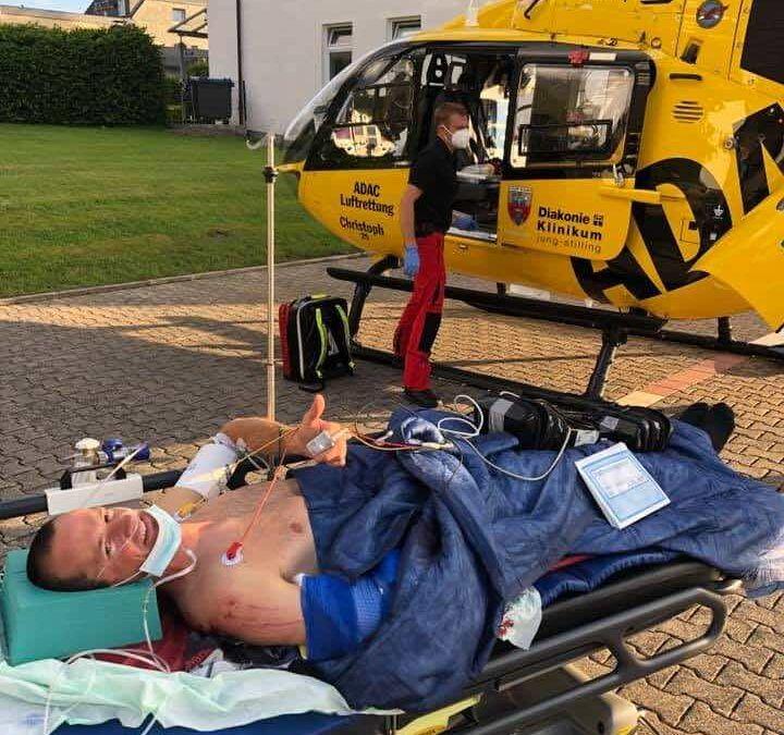 ex-Europees kampioen cross-triatlon komt zwaar ten val met MTB in Duitsland
