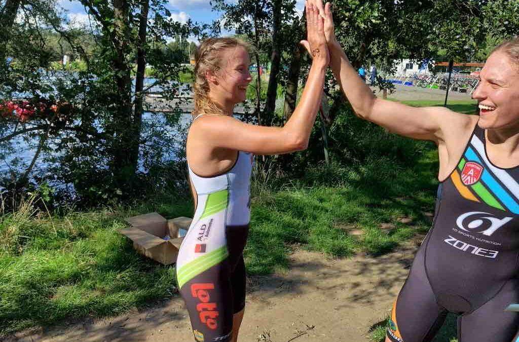 Hanne De Vet klopt favoriete Valerie Barthelemy in eerste T3 series triatlon