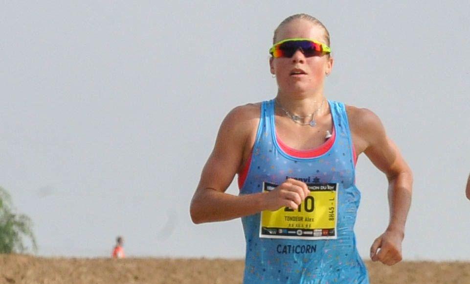 """Alexandra Tondeur wint halve marathon """"Pet af voor organisatoren, nu op naar BK halve triatlon"""""""