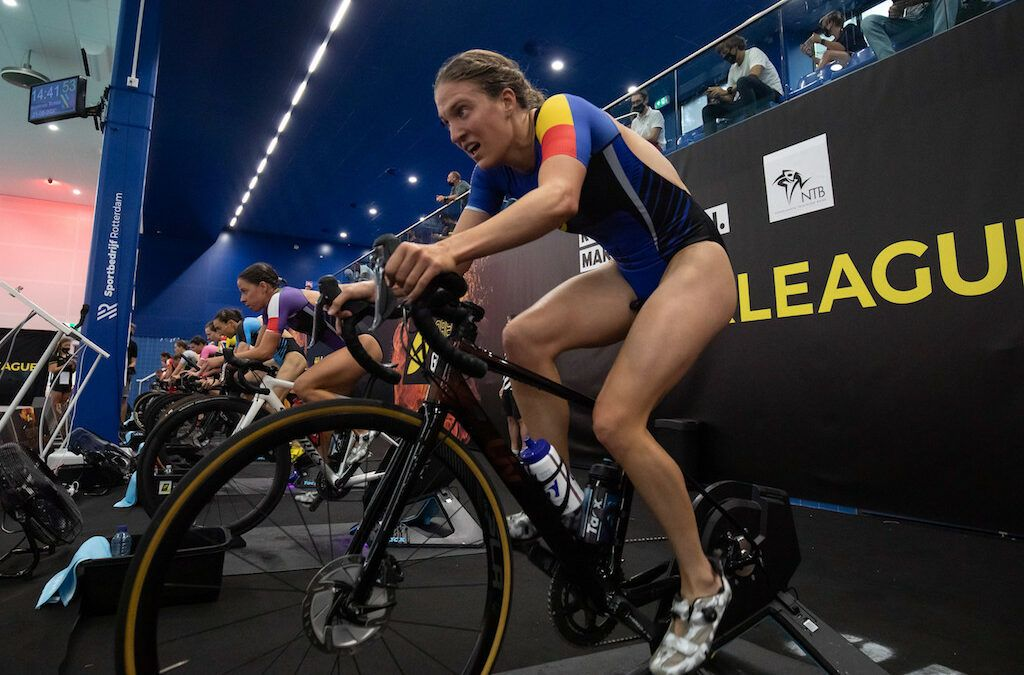 """Valerie Barthelemy over 3de plaats in Super League Triathlon Rotterdam: """"Het voelde als een echte wedstrijd"""""""