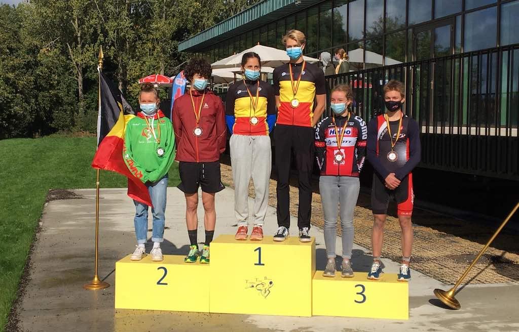Felle strijd om duatlontitels bij de jeugd in Braine – alle kampioenen op een rijtje