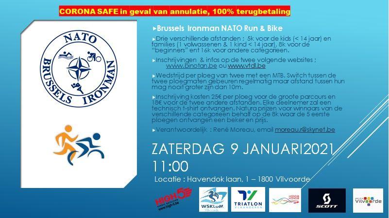 Brussels Ironman Nato Team gaat voluit voor Run & Bike in Vilvoorde in januari 2021