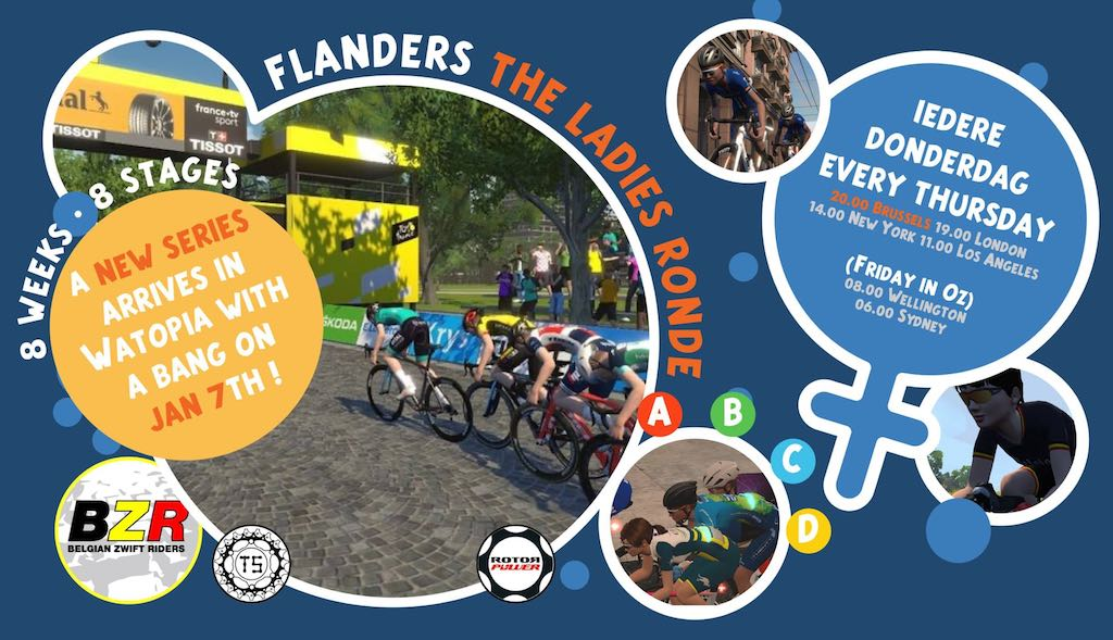 Eerste Belgische wedstrijdenreeks voor vrouwen op Zwift, triatletes en duatletes meer dan welkom