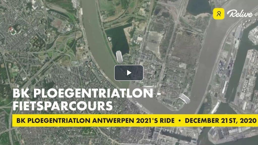 Atriac Antwerpen maakt snel en vlak fiets-parcours BK ploegentriatlon op Linkeroever bekend