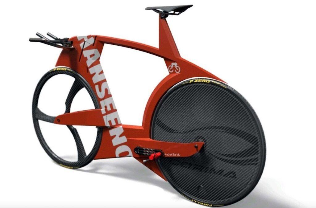 Zo ziet Adam Hansen zijn toekomstige custom 'Hanseeno' triatlonfiets er uit