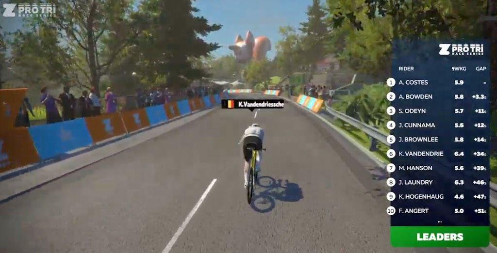 Belgen scoren goed in eerste bike-run-bike in Zwift Pro Tri Series