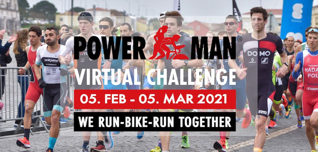 Powerman lanceert Virtual Challenge: Twee keer al lopend en fietsend de wereld rond