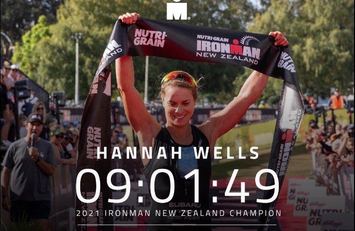 Dan toch nog Ironman Nieuw-Zeeland, Hannah Wells debuteert met winst, sub-8 voor Braden Currie