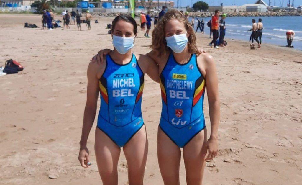 Belgian Hammers Claire en Valerie hervatten competitie in sprint-triatlon van Melilla