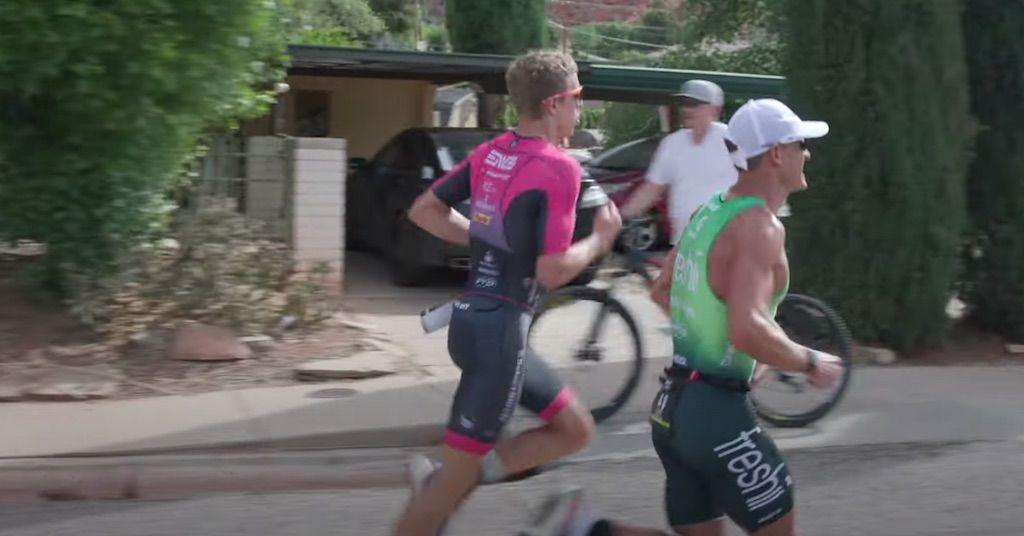 Bekijk de laatste 5 km van Lionel Sanders en Sam Long zij aan zij in 70.3 Ironman St-George