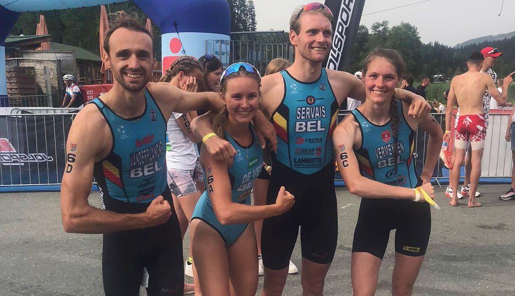 Belgische triatleten pakken 8ste plaats in Mixed Team Relay op EK in Kitzbuhel