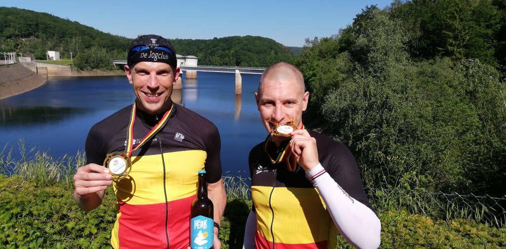 Gertjan Winten en Filip Sheridan pakken Belgische titel swimrun in La Gileppe