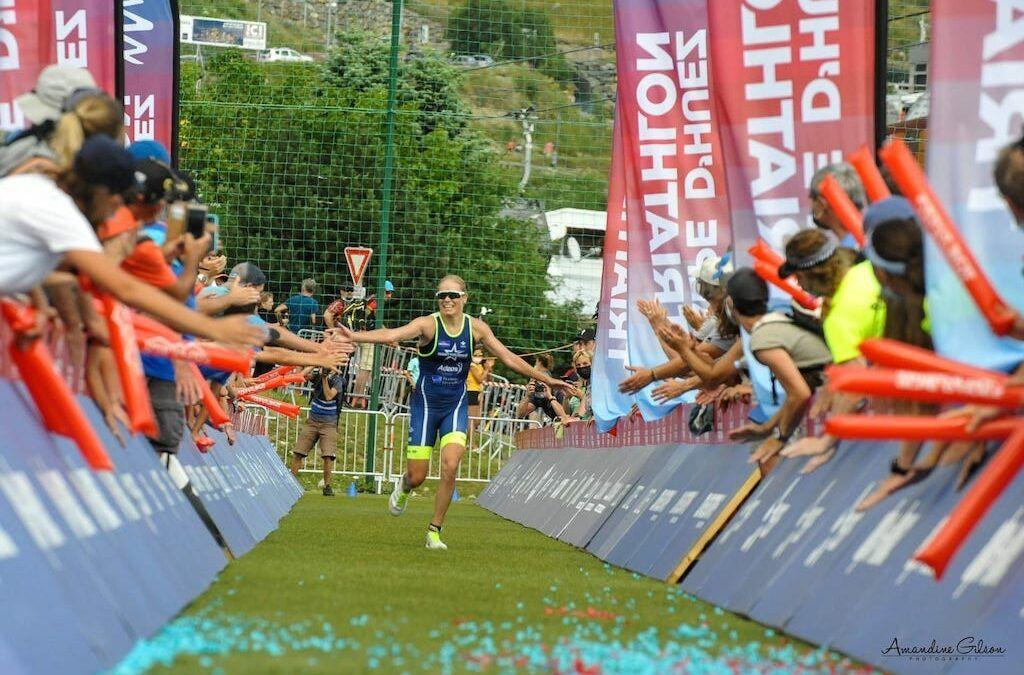 Opnieuw podium voor Alexandra Tondeur in Alpe d'Huez long distance triatlon