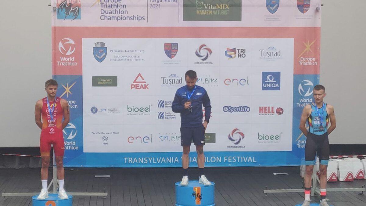 Arnaud Dely pakt brons op EK duatlon in Targu Mures