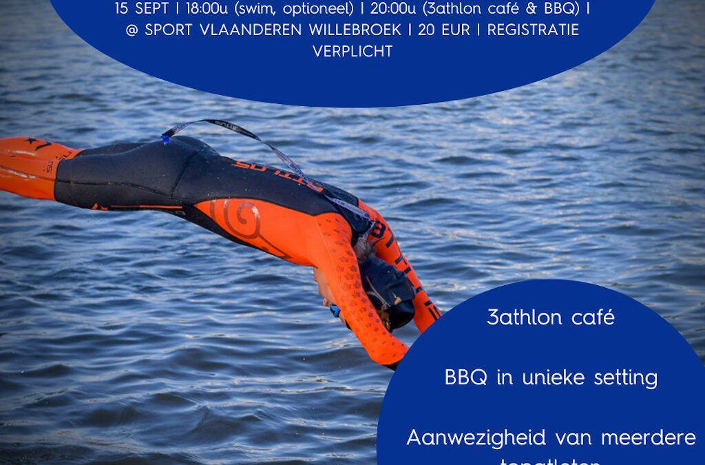 Live 3athloncafe met Hall Of Fame triatleten bij openwater-slotevent Triatlon Vlaanderen