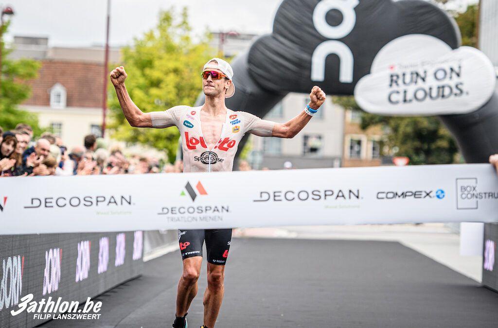 Stenn Goetstouwers en Katrien Verstuyft Belgische kampioenen halve triatlon in Menen
