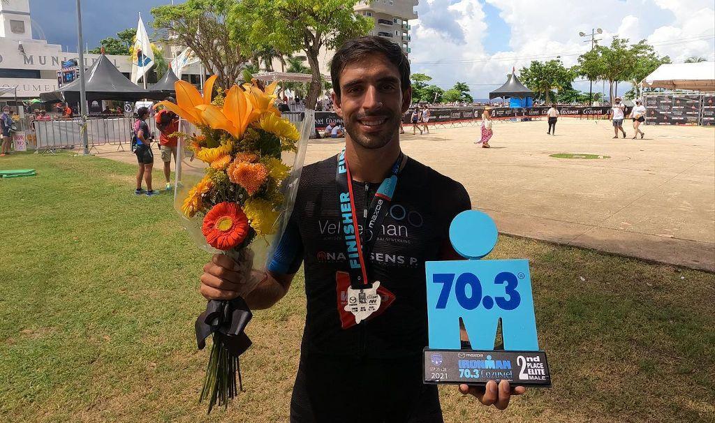 Emmanuel Lejeune grijpt net naast zege in 70.3 Ironman Cozumel