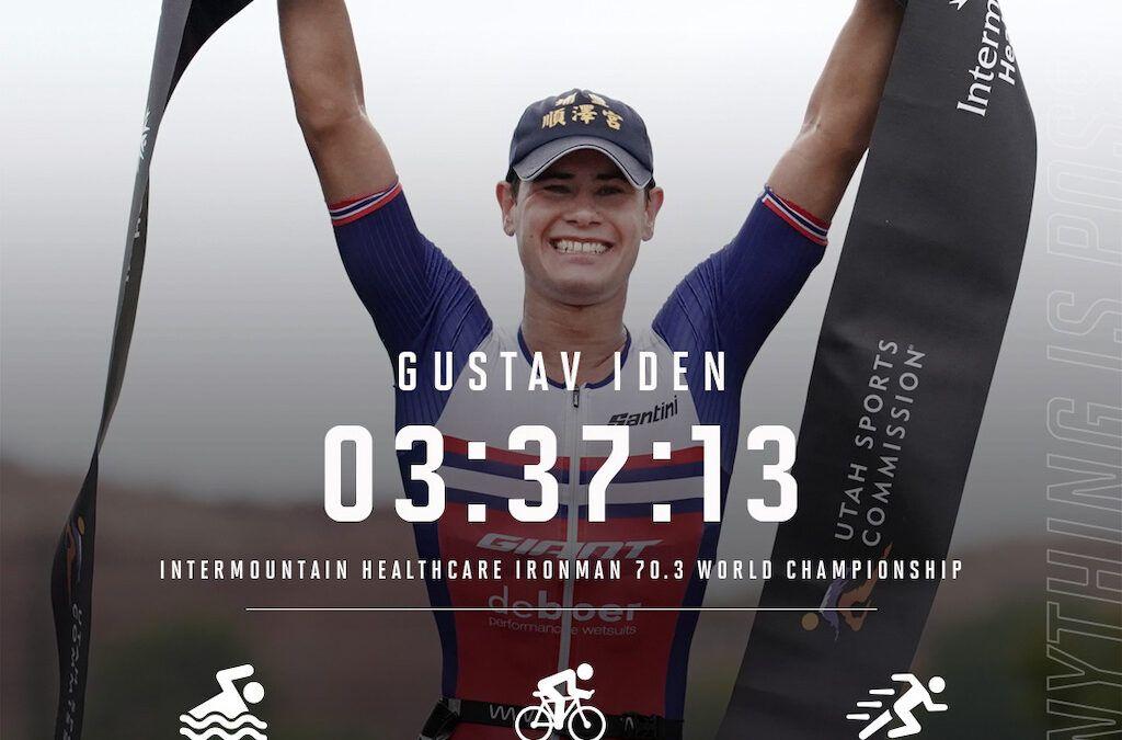 Gustav Iden verlengt wereldtitel 70.3 Ironman in St-George, Blummenfelt rijdt lek