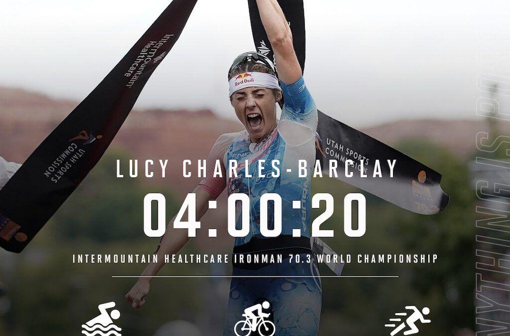Indrukwekkende solo levert Lucy Charles eerste wereldtitel 70.3 Ironman op