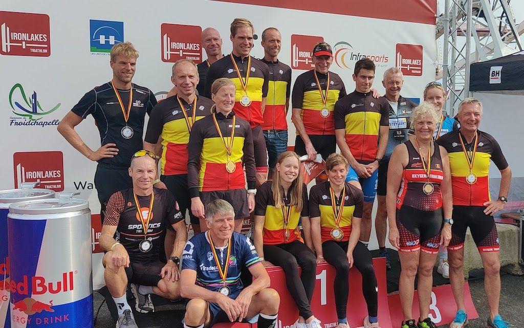 Kampioenen en medailles BK sprinttriatlon Ironlakes op een rij